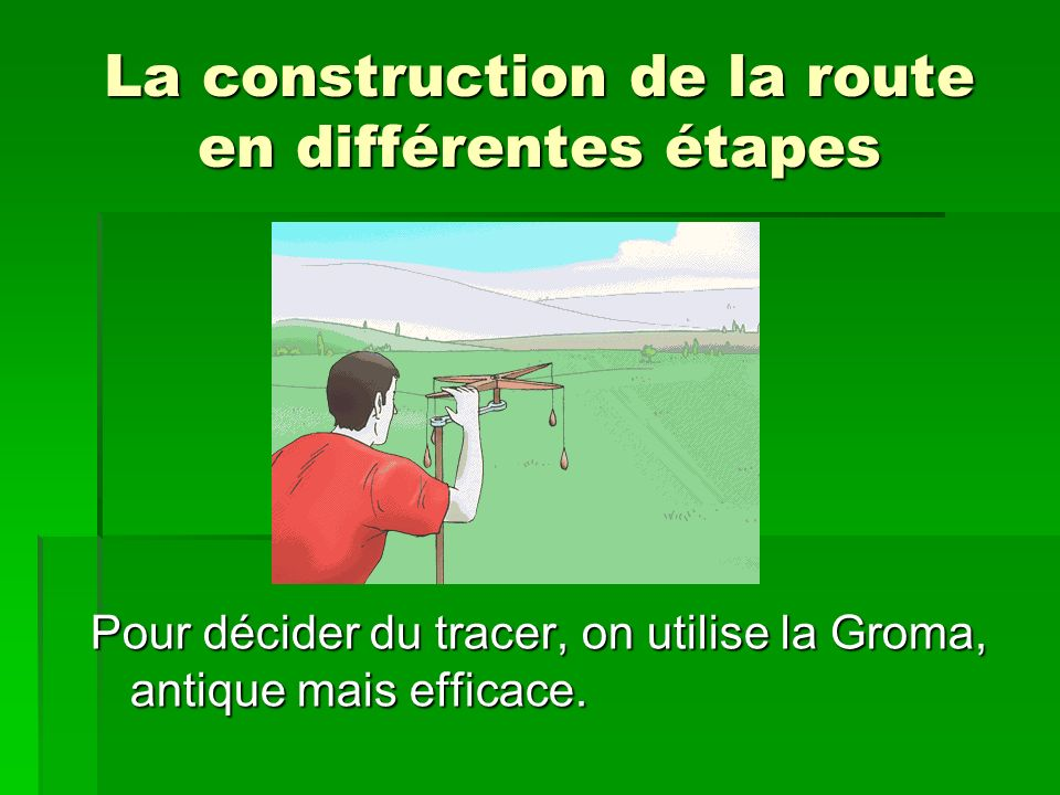 La construction de la route en différentes étapes