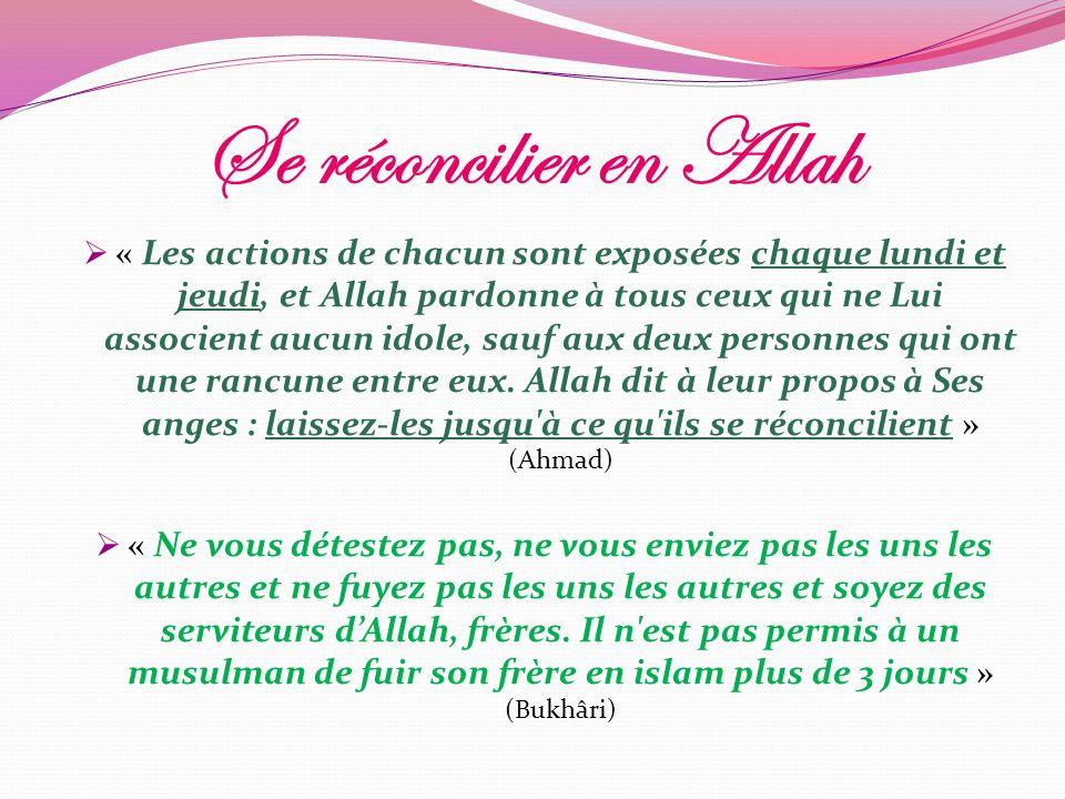 Se réconcilier en Allah