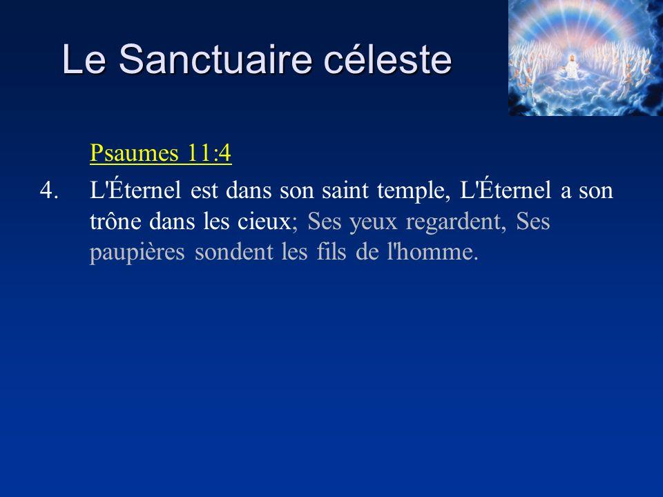 Le Sanctuaire céleste Psaumes 11:4