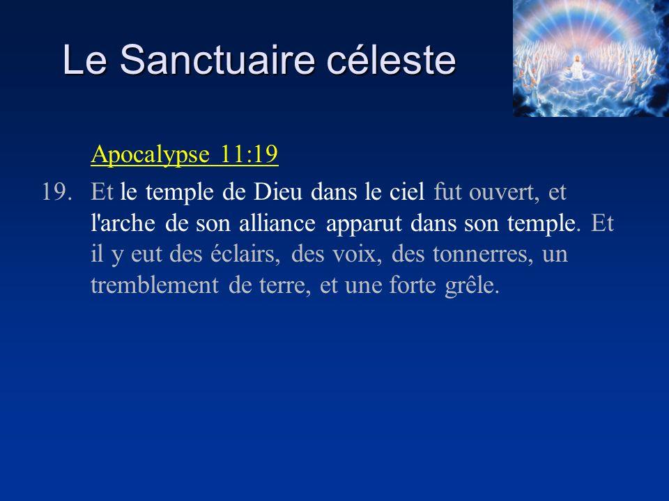 Le Sanctuaire céleste Apocalypse 11:19