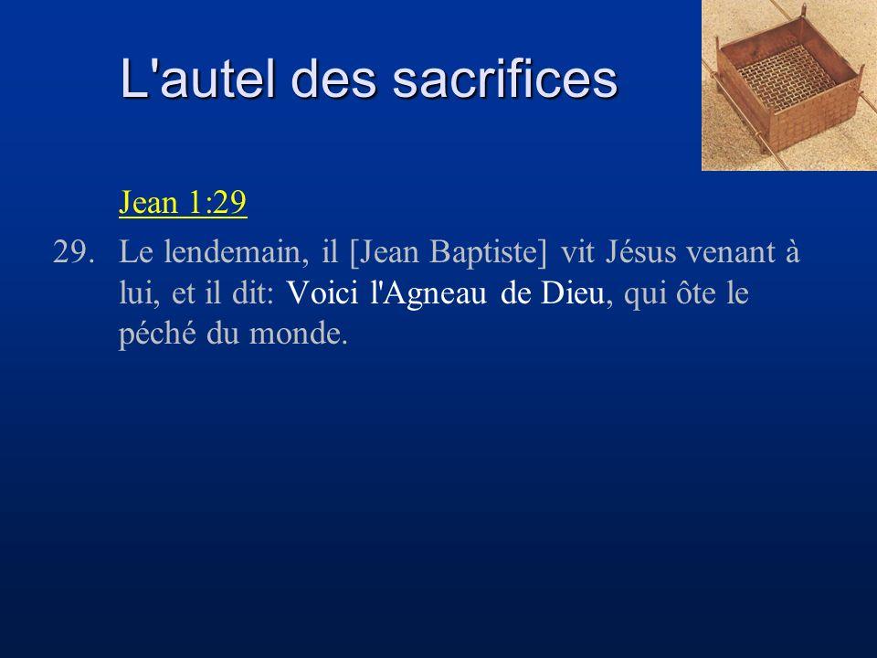 L autel des sacrifices Jean 1:29