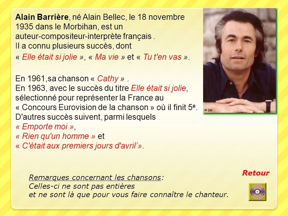 Alain Barrière, né Alain Bellec, le 18 novembre