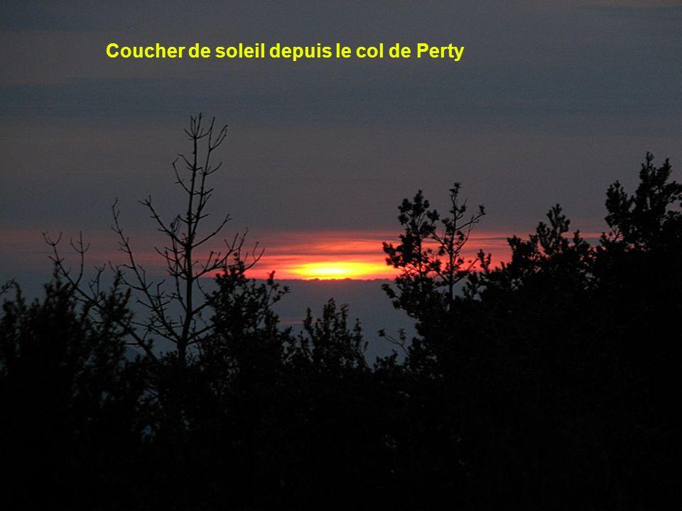 Coucher de soleil depuis le col de Perty