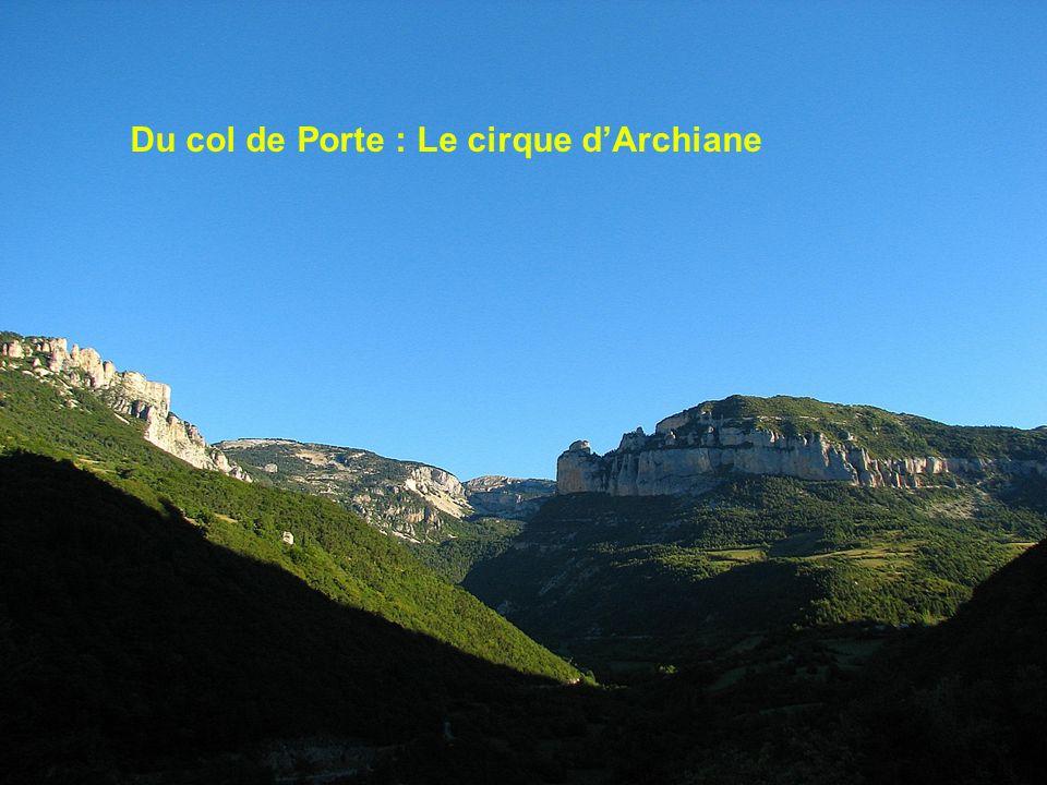 Du col de Porte : Le cirque d'Archiane