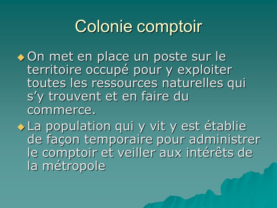 Colonie comptoir