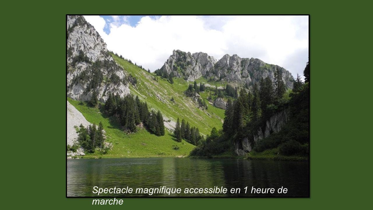 Spectacle magnifique accessible en 1 heure de marche