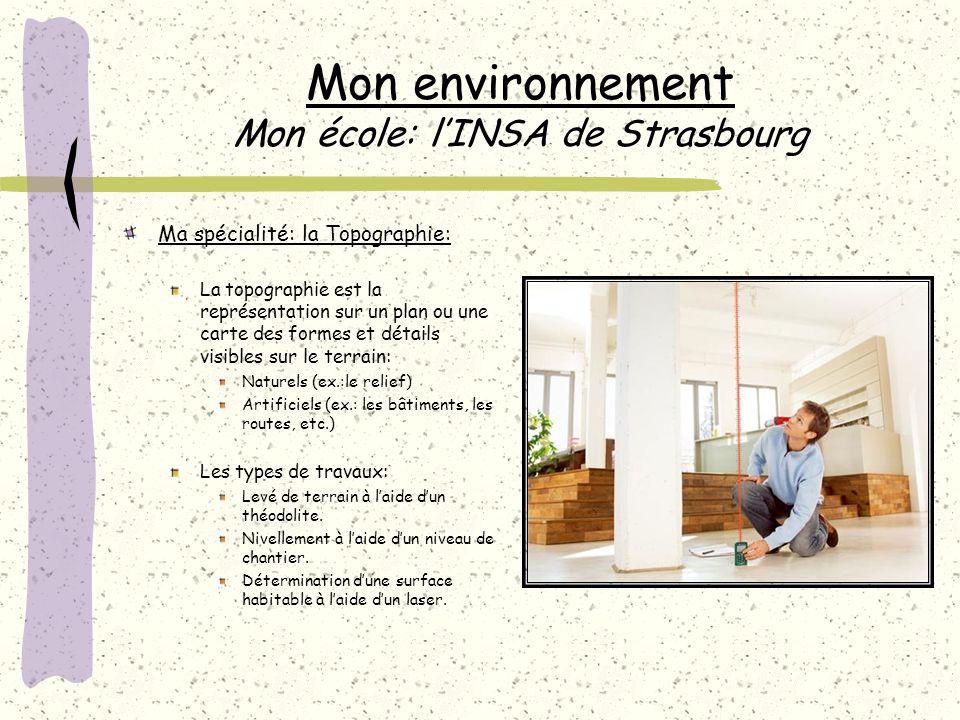 Mon environnement Mon école: l'INSA de Strasbourg