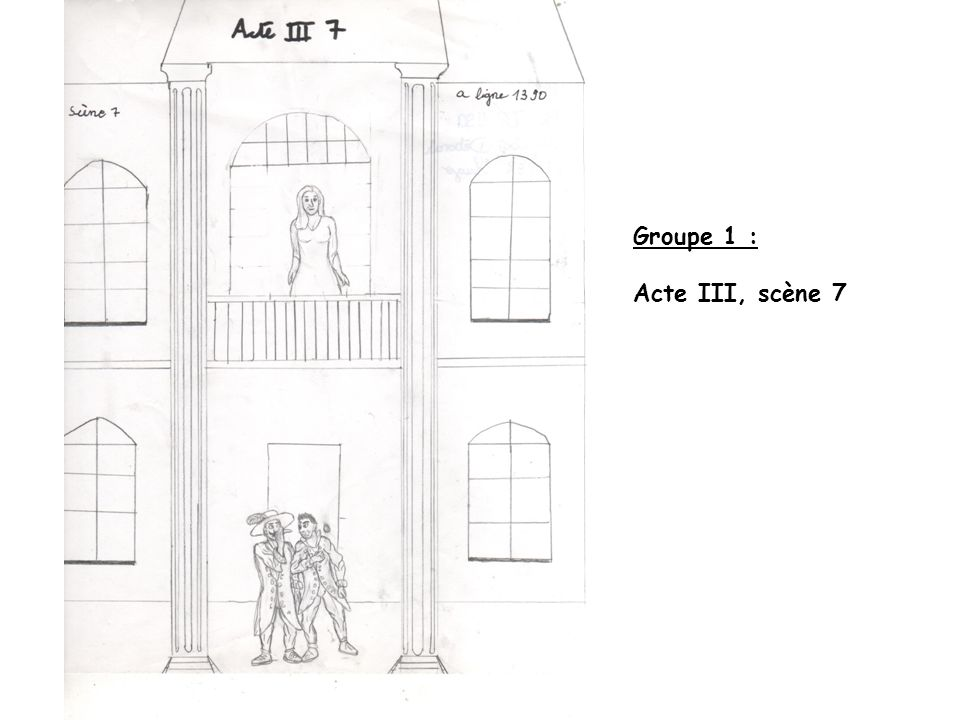 Groupe 1 : Acte III, scène 7