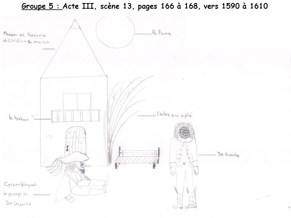 Groupe 5 : Acte III, scène 13, pages 166 à 168, vers 1590 à 1610