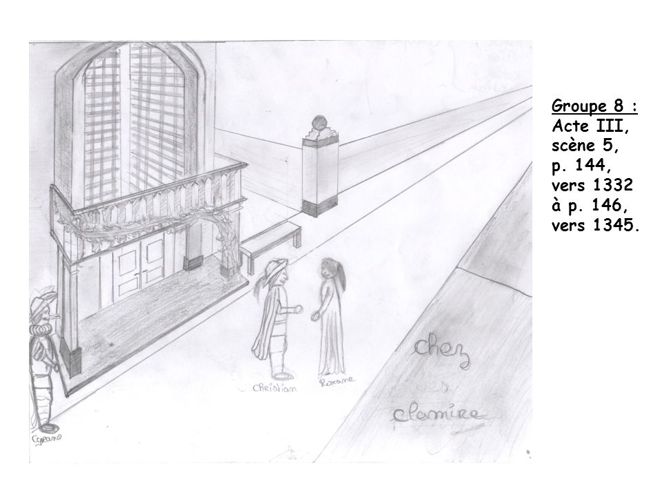 Groupe 8 : Acte III, scène 5, p. 144, vers 1332 à p. 146, vers 1345.