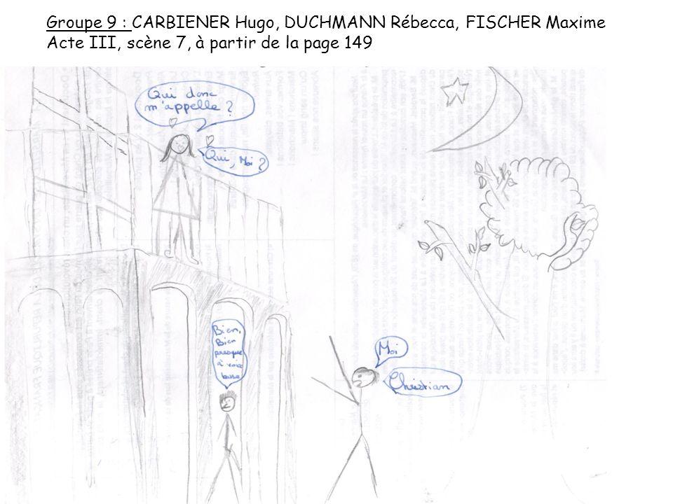 Groupe 9 : CARBIENER Hugo, DUCHMANN Rébecca, FISCHER Maxime