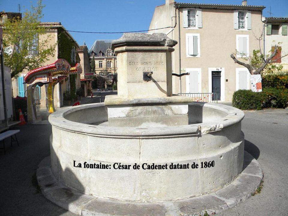 La fontaine: César de Cadenet datant de 1860
