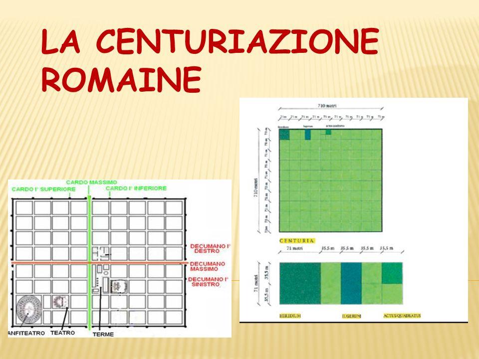 LA CENTURIAZIONE ROMAINE