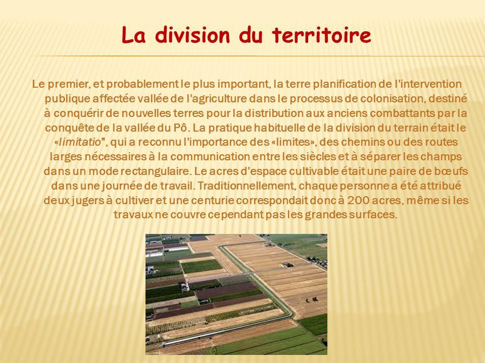 La division du territoire