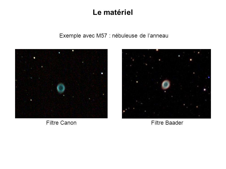 Exemple avec M57 : nébuleuse de l'anneau