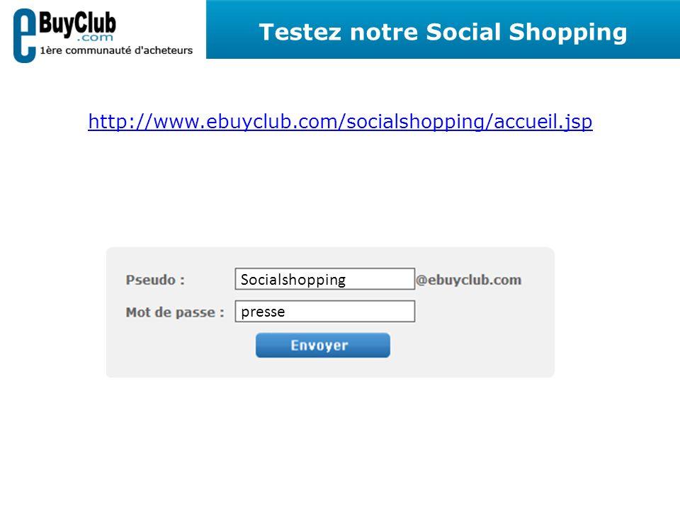 Testez notre Social Shopping