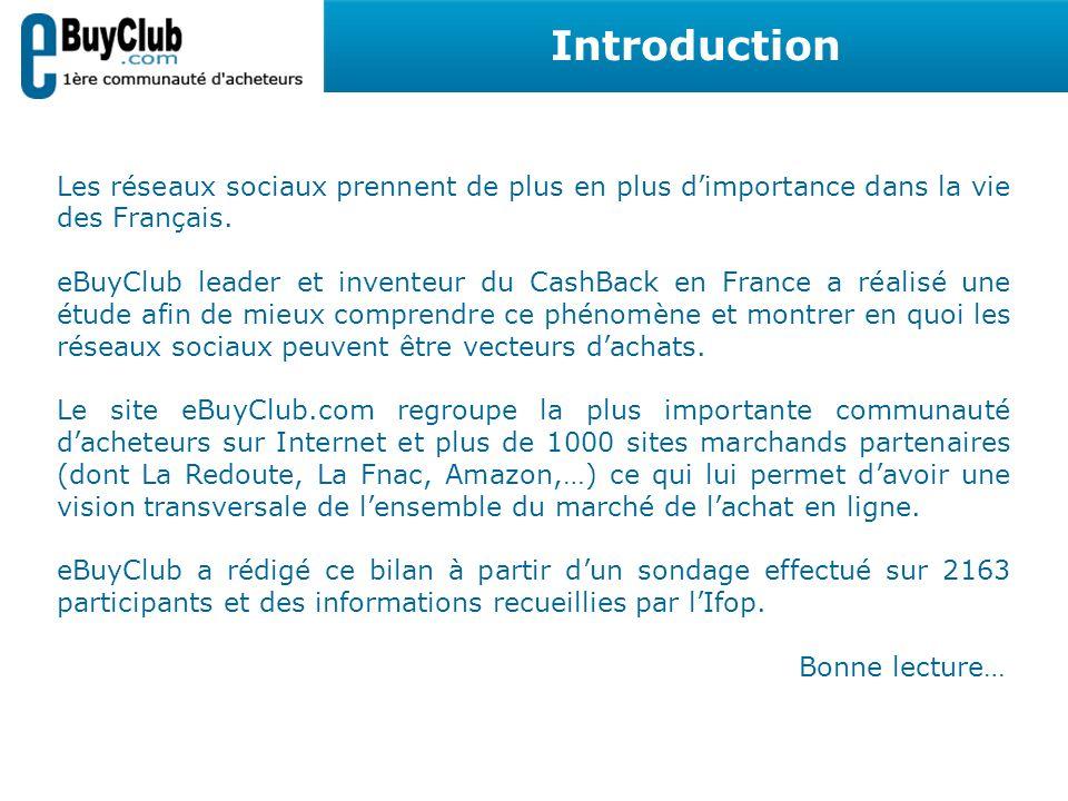 Introduction Les réseaux sociaux prennent de plus en plus d'importance dans la vie des Français.