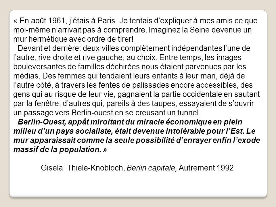 « En août 1961, j'étais à Paris