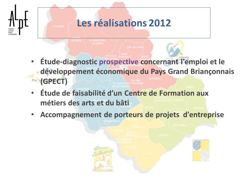 Les réalisations 2012 Étude-diagnostic prospective concernant l emploi et le développement économique du Pays Grand Briançonnais (GPECT)
