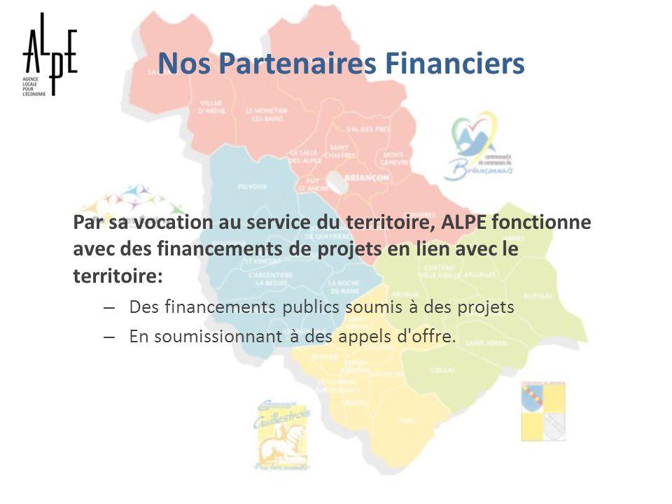 Nos Partenaires Financiers