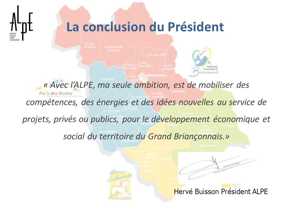 La conclusion du Président
