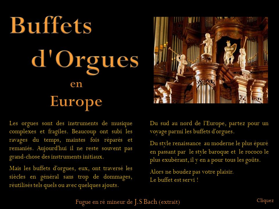 Buffets d Orgues Europe en