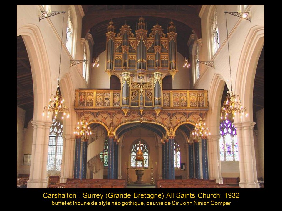 Carshalton , Surrey (Grande-Bretagne) All Saints Church, 1932