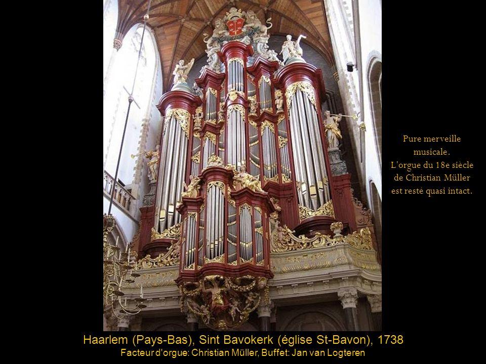 Haarlem (Pays-Bas), Sint Bavokerk (église St-Bavon), 1738