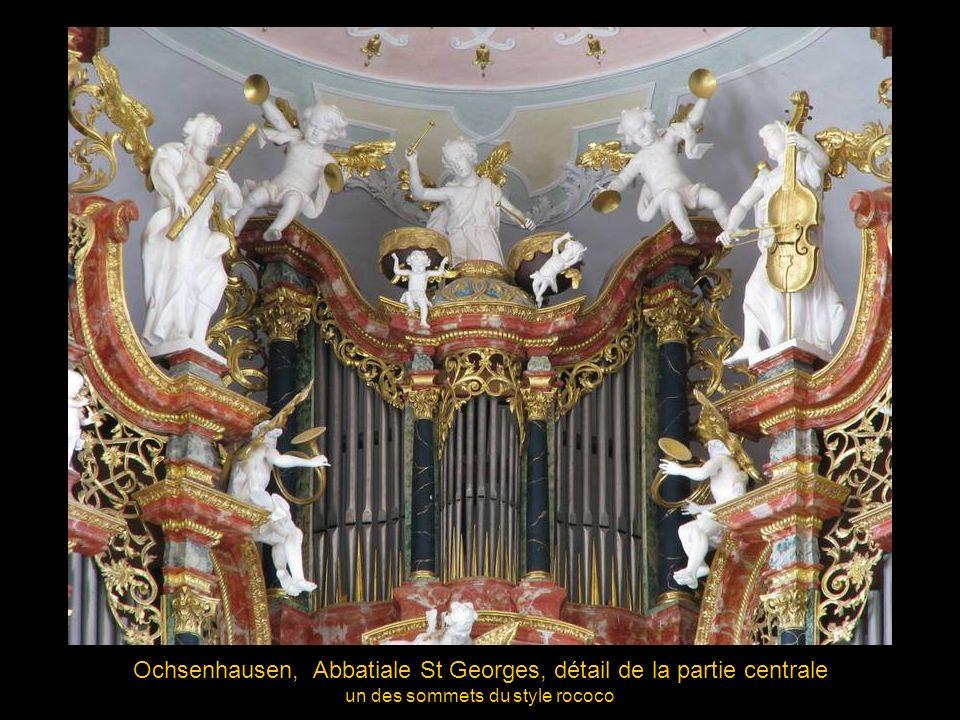 Ochsenhausen, Abbatiale St Georges, détail de la partie centrale