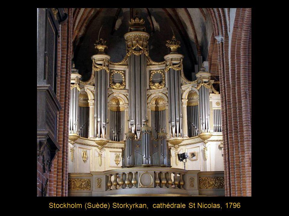 Stockholm (Suède) Storkyrkan, cathédrale St Nicolas, 1796