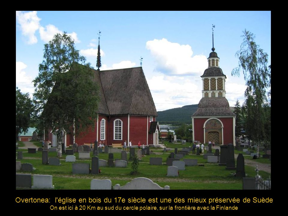 Overtonea: l église en bois du 17e siècle est une des mieux préservée de Suède