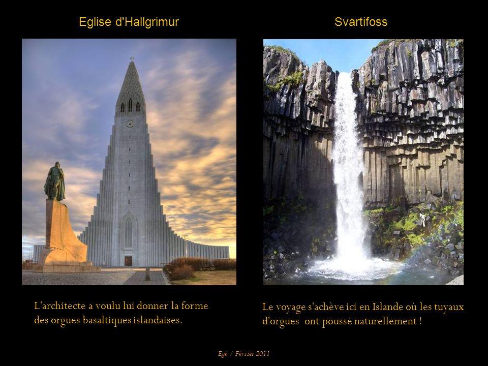 Le voyage s achève ici en Islande où les tuyaux