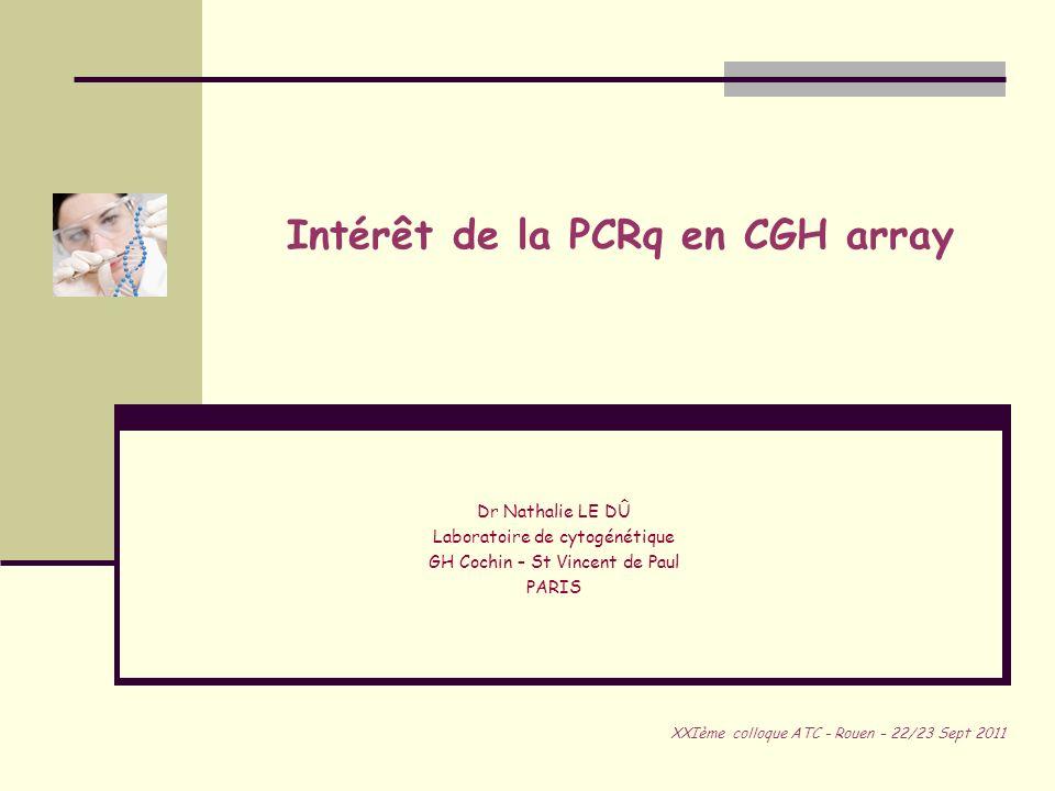 Intérêt de la PCRq en CGH array