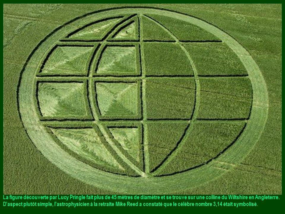 La figure découverte par Lucy Pringle fait plus de 45 mètres de diamètre et se trouve sur une colline du Wiltshire en Angleterre.