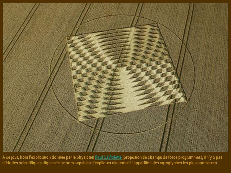 A ce jour, hors l'explication donnée par le physicien Paul LaViolette (projection de champs de force programmés), il n y a pas d études scientifiques dignes de ce nom capables d expliquer clairement l apparition des agroglyphes les plus complexes.