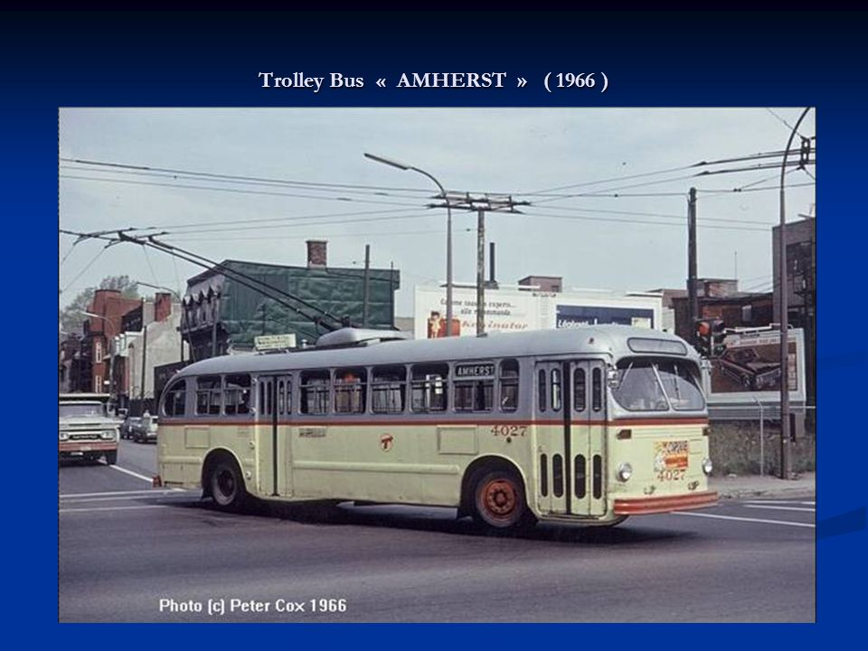 Trolley Bus « AMHERST » ( 1966 )