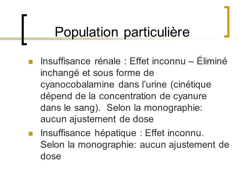 Population particulière