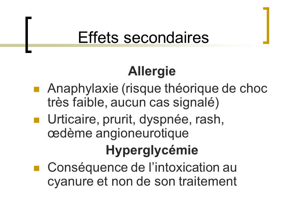 Effets secondaires Allergie