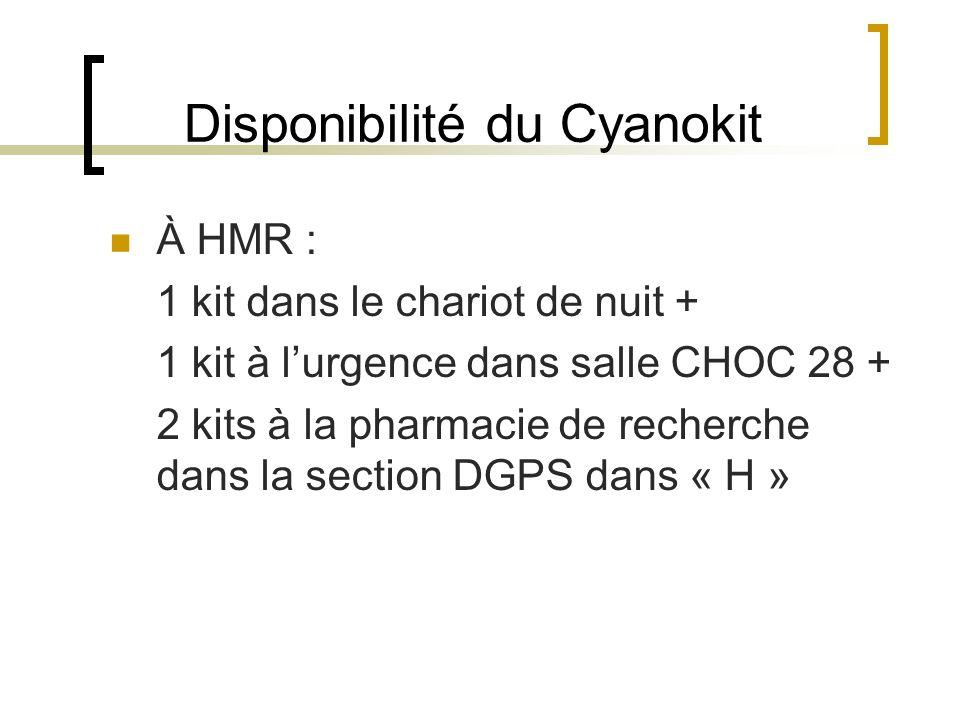 Disponibilité du Cyanokit