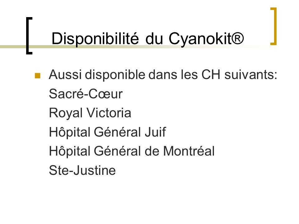 Disponibilité du Cyanokit®