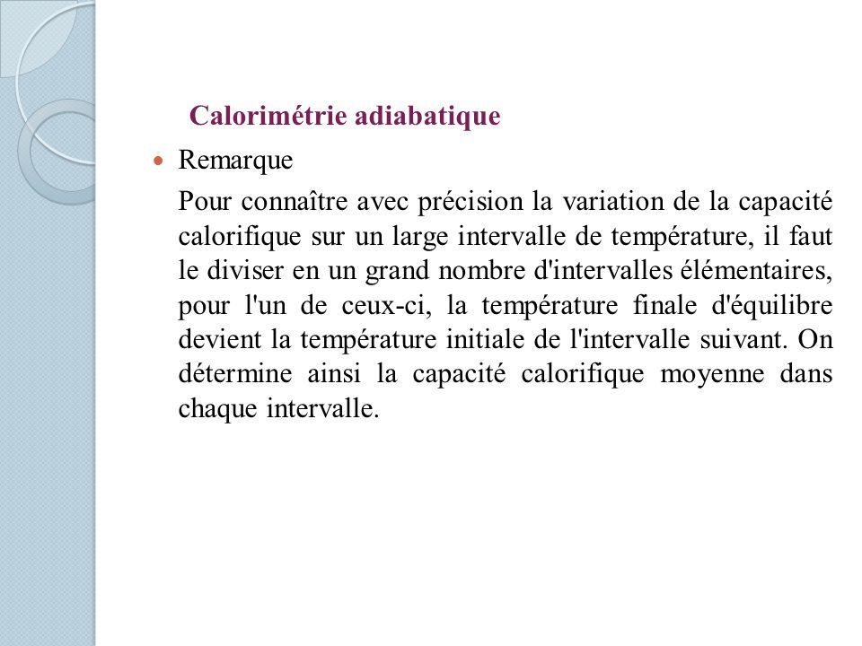 Calorimétrie adiabatique