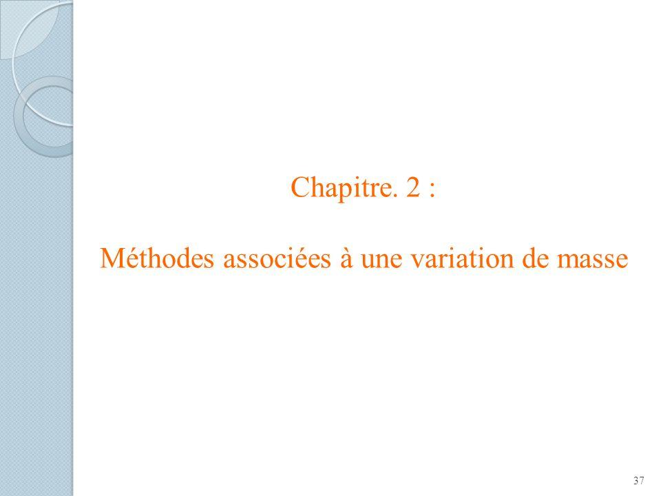 Chapitre. 2 : Méthodes associées à une variation de masse