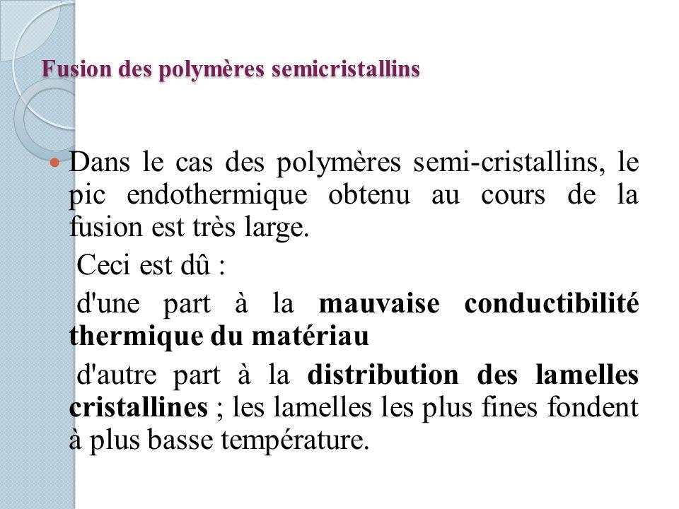 Fusion des polymères semicristallins