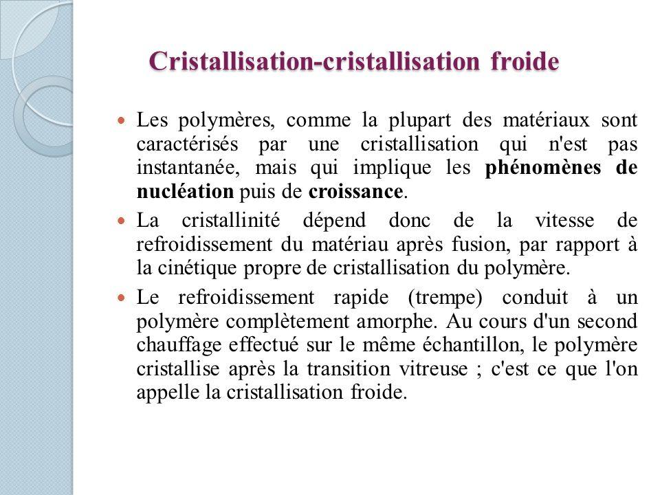 Cristallisation-cristallisation froide