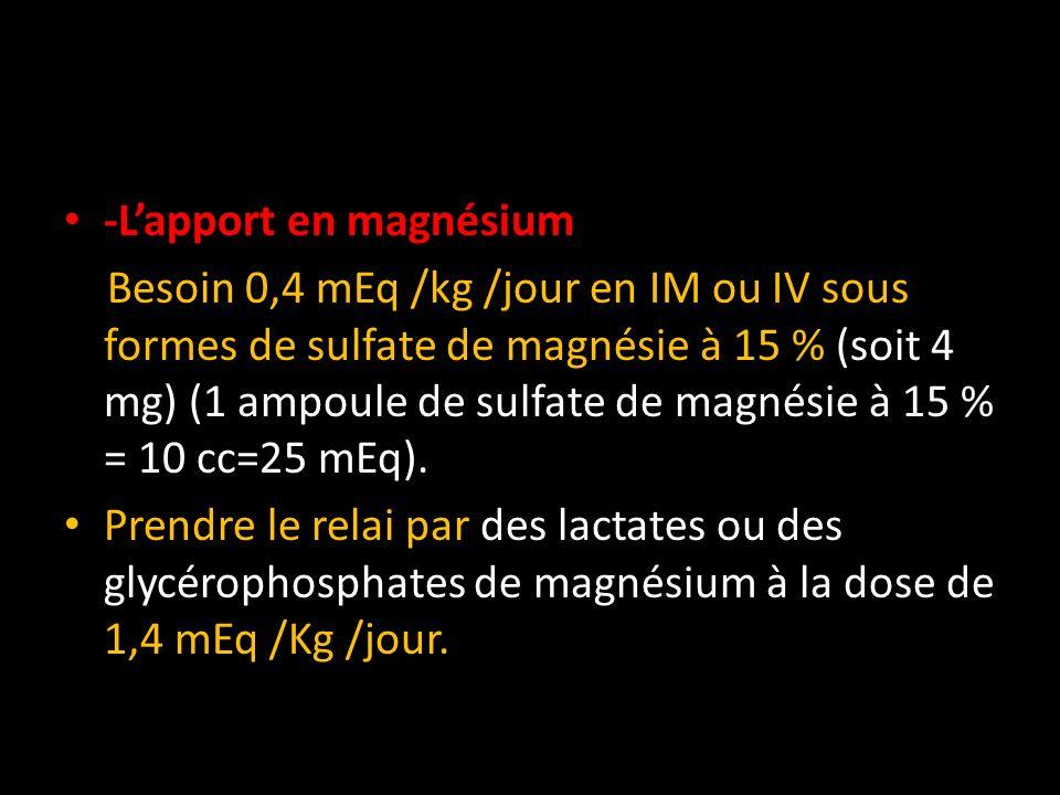 -L'apport en magnésium