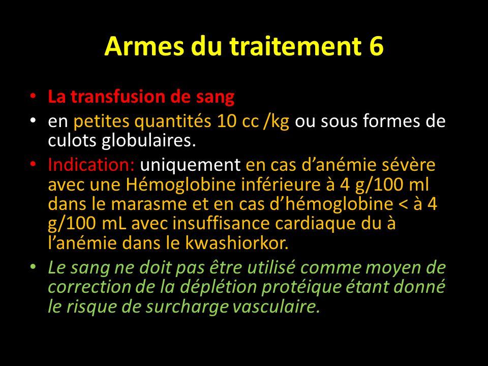 Armes du traitement 6 La transfusion de sang