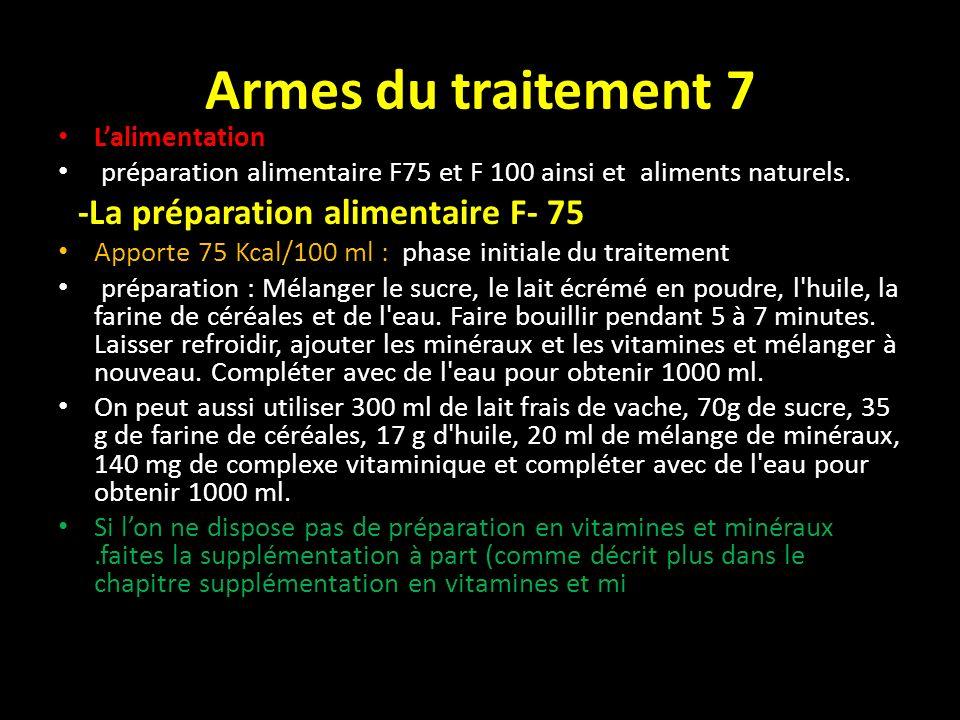 Armes du traitement 7 L'alimentation