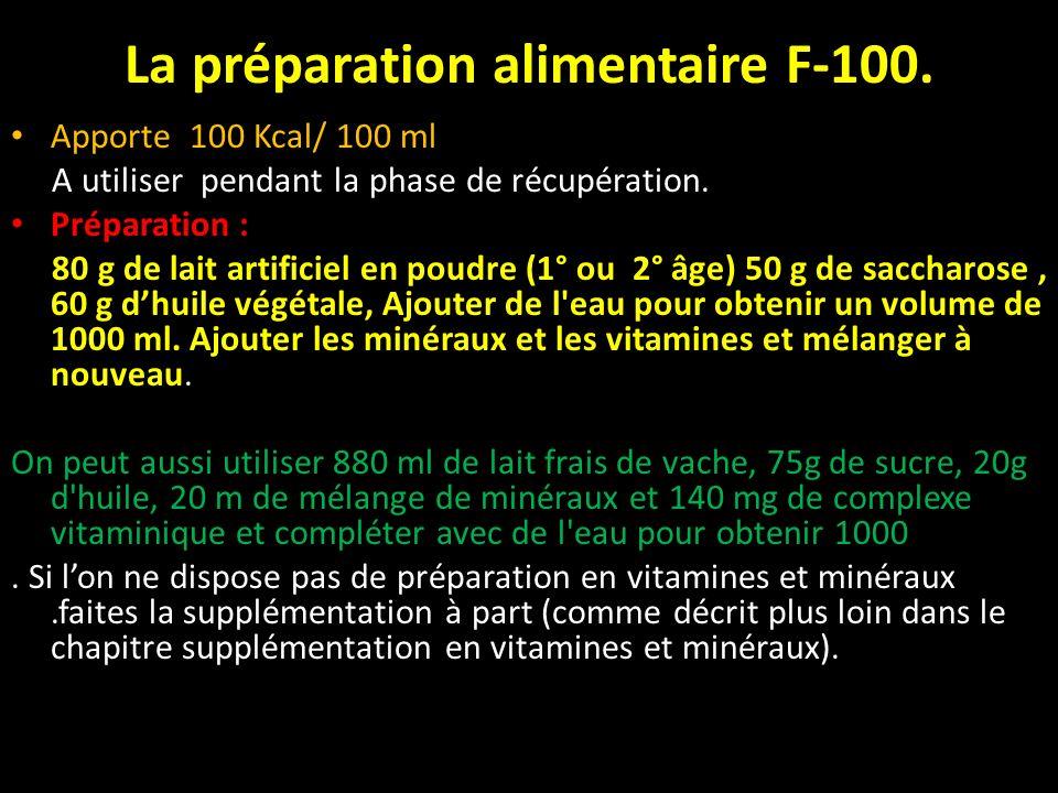 La préparation alimentaire F-100.