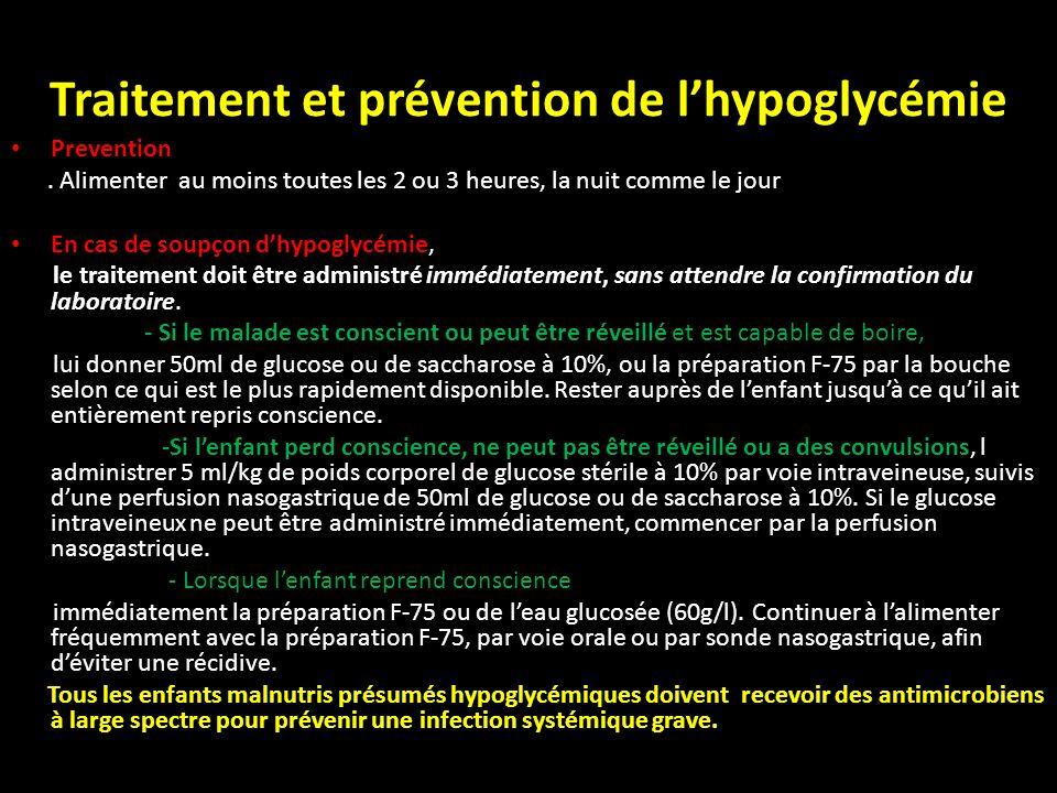 Traitement et prévention de l'hypoglycémie