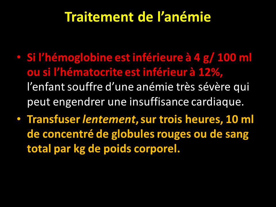 Traitement de l'anémie